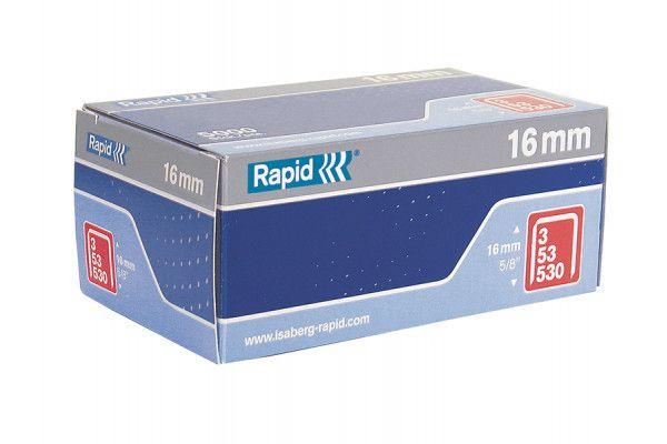 Rapid 53/16B 16mm Galvanised Staples Box 5000