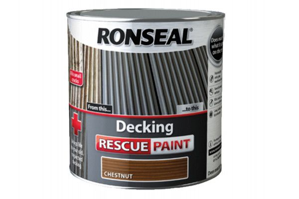 Ronseal Decking Rescue Paint Chestnut 5 Litre