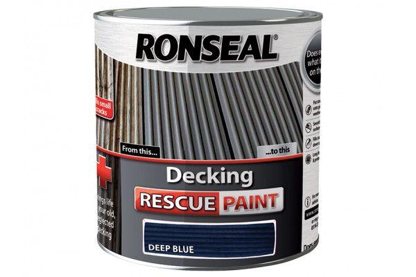 Ronseal Decking Rescue Paint Deep Blue 2.5 Litre