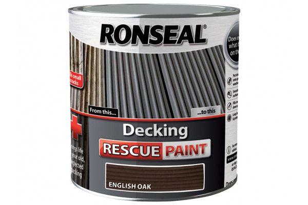 Ronseal Decking Rescue Paint English Oak 2.5 Litre