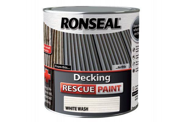 Ronseal Decking Rescue Paint White Wash 2.5 Litre