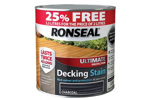 Ronseal Ultimate Decking Stain Charcoal 2 Litre + 25%