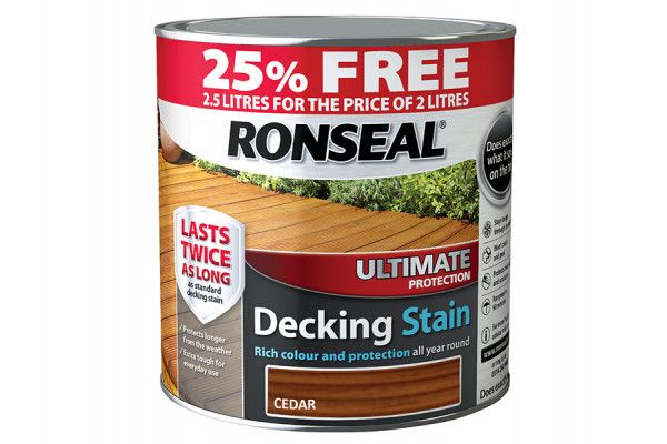 Ronseal Ultimate Decking Stain Cedar 2 Litre + 25%