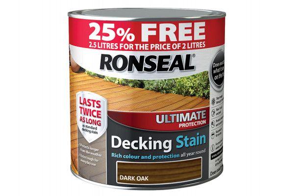 Ronseal Ultimate Decking Stain Dark Oak 2 Litre + 25%