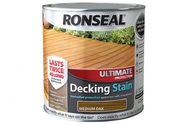 Ronseal Ultimate Protection Decking Stain Medium Oak 2.5 Litre