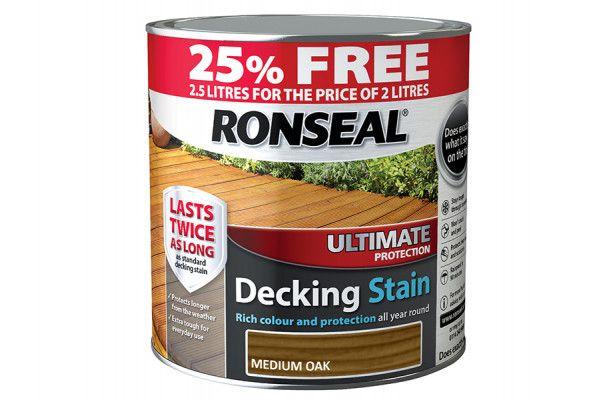 Ronseal Ultimate Decking Stain Medium Oak 2 Litre + 25%