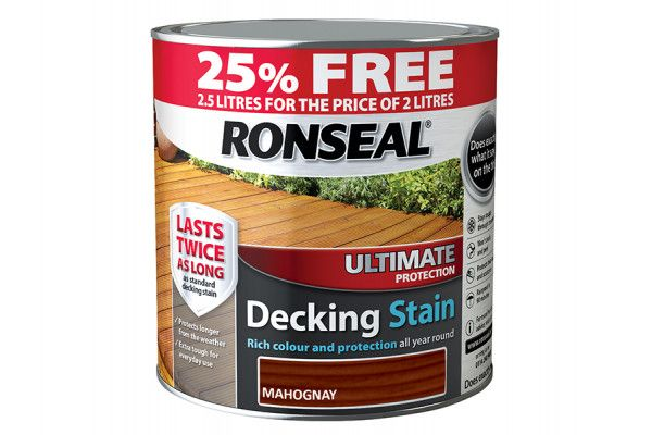Ronseal Ultimate Deck Stain Rich Mahogany 2 Litre + 25%