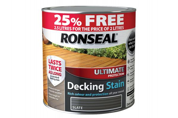Ronseal Ultimate Decking Stain Slate 2 Litre + 25%