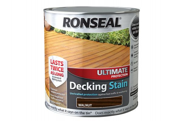 Ronseal Ultimate Protection Decking Stain Walnut 2.5 Litre