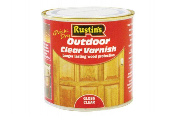 Rustins Exterior Varnish Clear Gloss 1 Litre