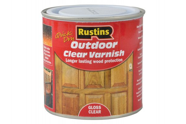 Rustins Exterior Varnish Clear Gloss 250ml