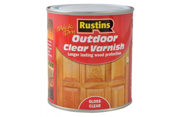 Rustins Exterior Varnish Clear Gloss 500ml