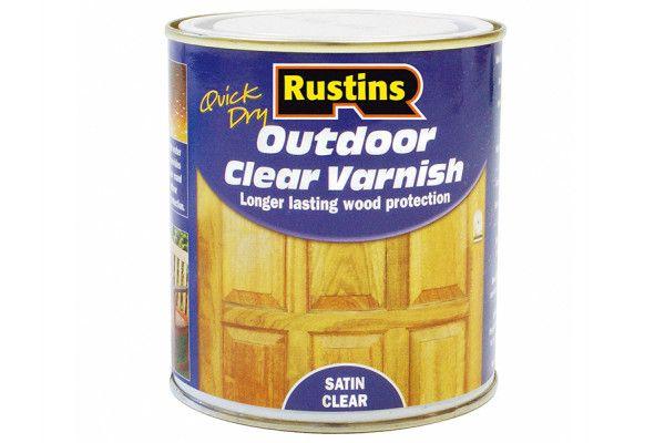 Rustins Exterior Varnish Satin 500ml