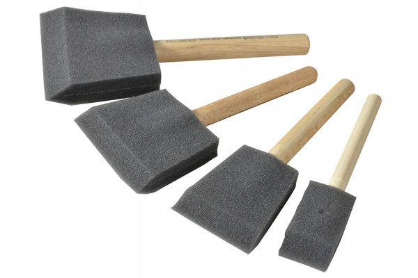Rustins Foam Brush Set (1,2,3 & 4in)