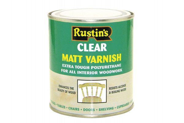 Rustins Polyurethane Varnish Matt Clear 1 Litre