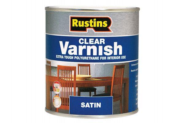 Rustins Polyurethane Varnish Satin Clear 1 Litre