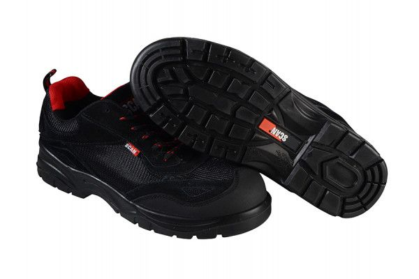 Scan Caracal Black Safety Trainers UK 12 Euro 47