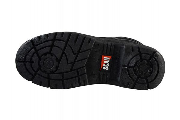 Scan 4 D-Ring Chukka Black Safety Boots UK 6 Euro 39