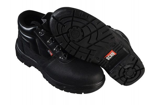 Scan 4 D-Ring Chukka Black Safety Boots UK 7 Euro 41