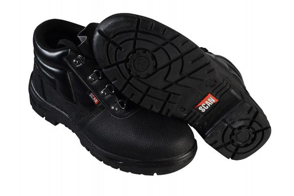 Scan 4 D-Ring Chukka Black Safety Boots UK 9 Euro 43