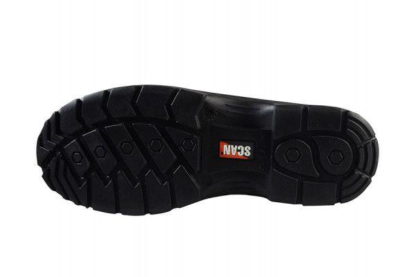 Scan Serval Black Ankle Boots UK 11 Euro 46