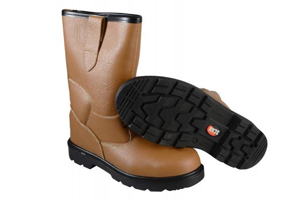 Scan Texas Lined Tan Rigger Boots UK 8 Euro 42