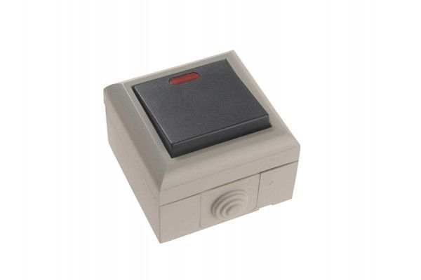 SMJ IP54 2 Way Switch with LED 1 Gang