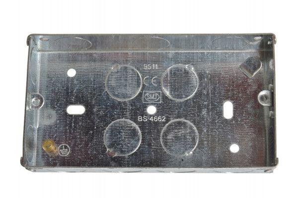 SMJ Metal Box 2 Gang 25mm Depth - Loose