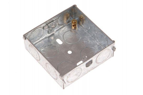SMJ Metal Back Box 1 Gang 16mm Depth - Carded