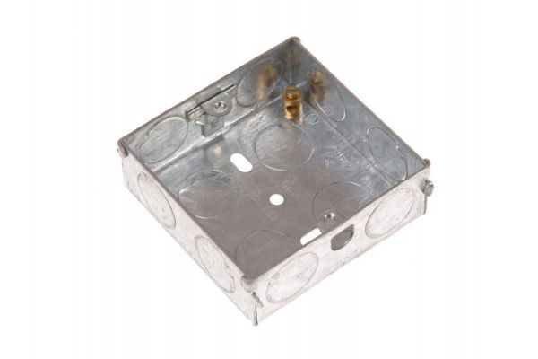SMJ Metal Back Box 1 Gang 25mm Depth - Carded