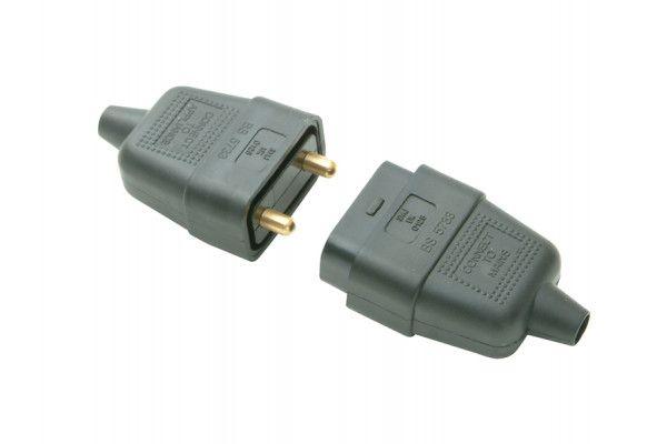 SMJ Black Plug & Socket 10A 2 Pin