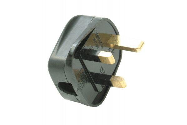SMJ Black Heavy-Duty Rubber Plug 13A Fused