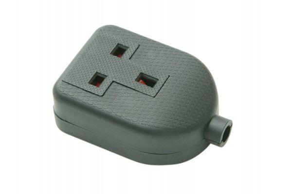 SMJ Black Single Extension Socket 13A