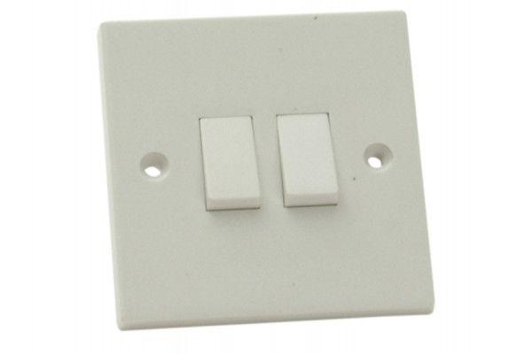 SMJ Light Switch 2 Gang 2 Way