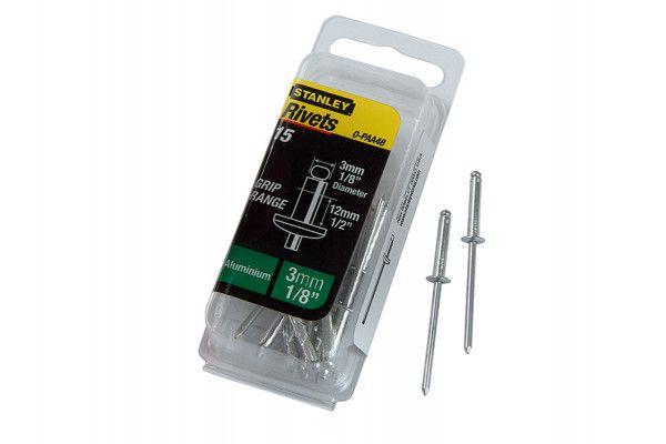 Stanley Tools 1-PAA48 Aluminium Rivets Long 3mm (15)