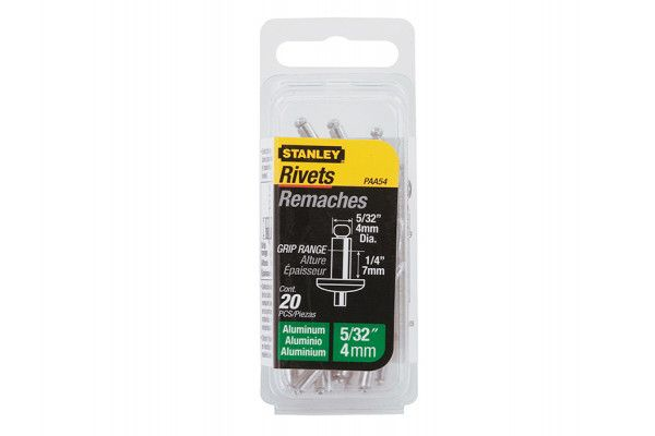Stanley Tools 1-PAA54 Aluminium Rivets Medium 4mm (20)