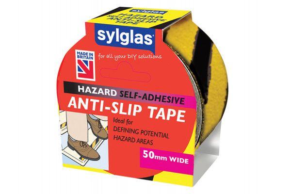 Sylglas Anti-Slip Tape 50mm x 18m Black & Yellow Hazard