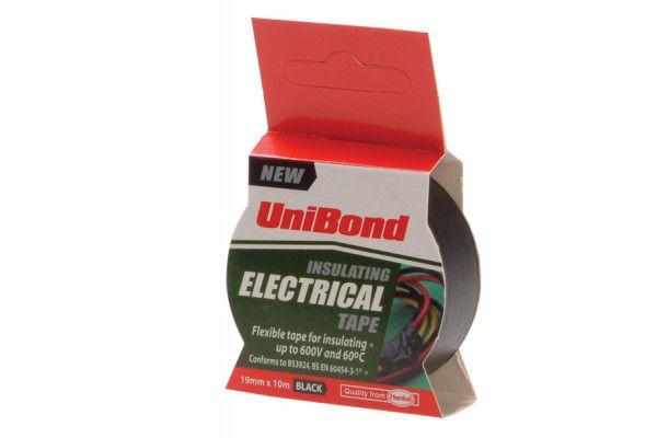 Unibond Electrical Tape Black 19mm x 10m