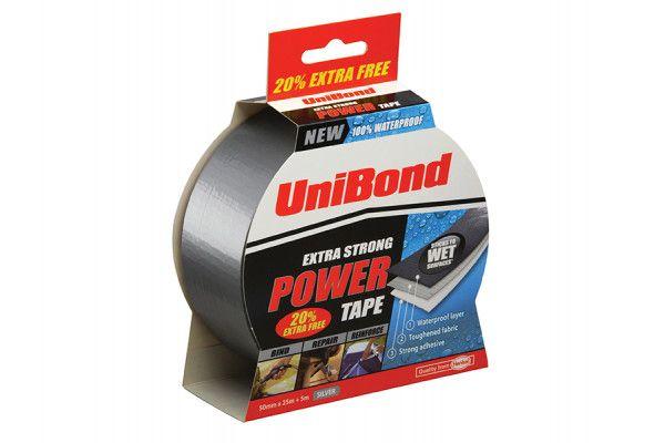 Unibond Powertape Silver 50mm x 25m + 20% free
