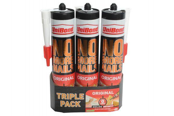 Unibond No More Nails Interior Cartridge Triple Pack