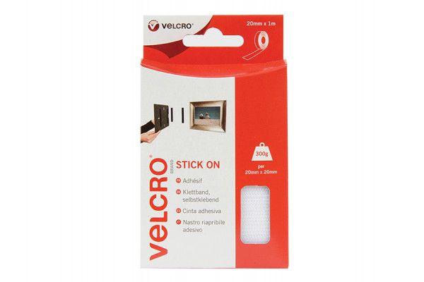 VELCRO® Brand VELCRO® Brand Stick On Tape 20mm x 1m White
