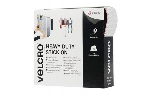VELCRO® Brand VELCRO® Brand Heavy-Duty Stick On Tape 50mm x 5m White