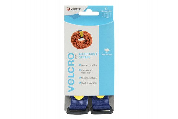 VELCRO® Brand VELCRO® Brand Adjustable Straps(2) 25mm x 92cm Blue