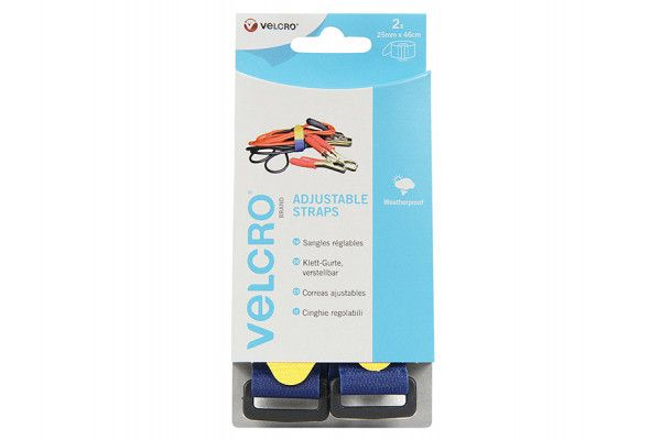 VELCRO® Brand VELCRO® Brand Adjustable Straps (2) 25mm x 46cm Blue
