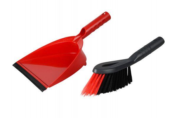 Vileda 2-in-1 Dustpan and Brush Set