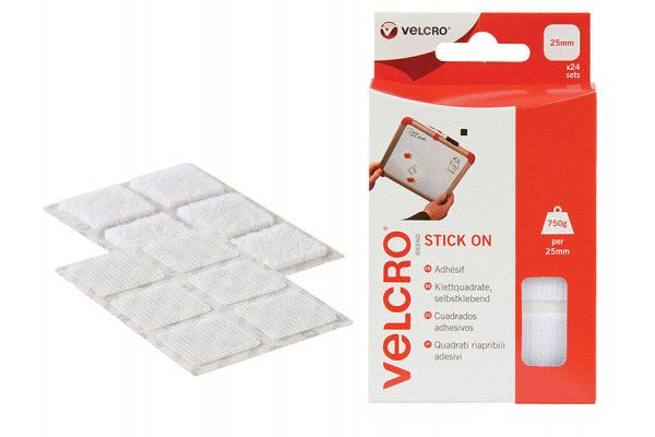 VELCRO® Brand, Hook & Loop Stick On Squares