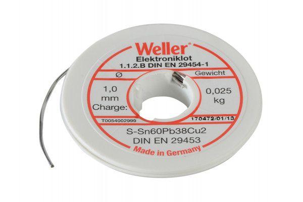 Weller EL60/40-25 Electronic Solder Resin Core 25g