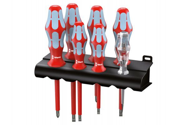 Wera Kraftform Plus VDE Stainless Steel Screwdriver Set of 7 SL/PH