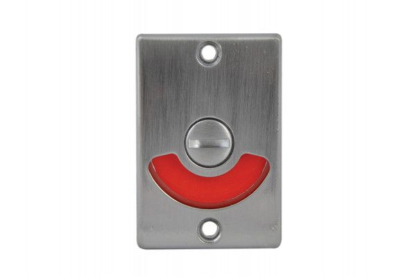 Yale Locks Indicator Bolt for Bathrooms or W.C Doors Satin Chrome P127