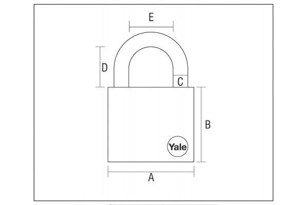 Yale Locks Hasp & Brass Padlock Set 40mm